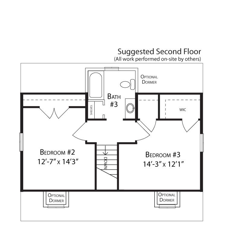Pride cape cod ar colorado solar homes for Cape cod second floor plans